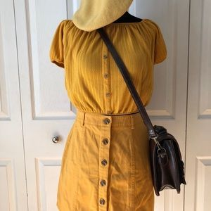 3 FOR 30$ Yellow Button Up Skirt